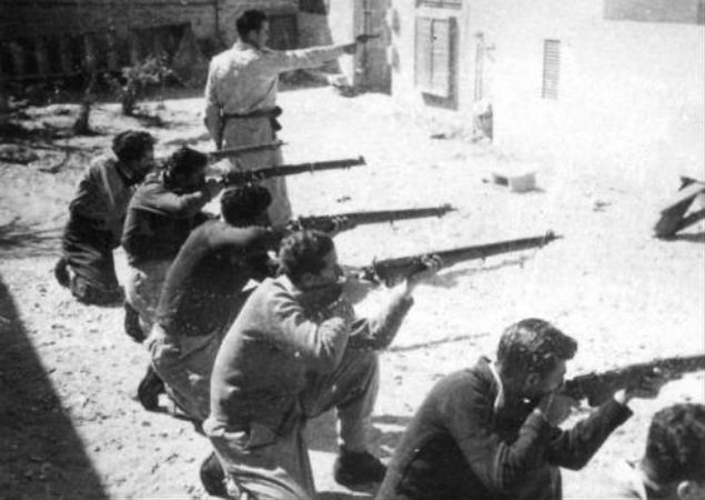 Trening bojowników Irgunu