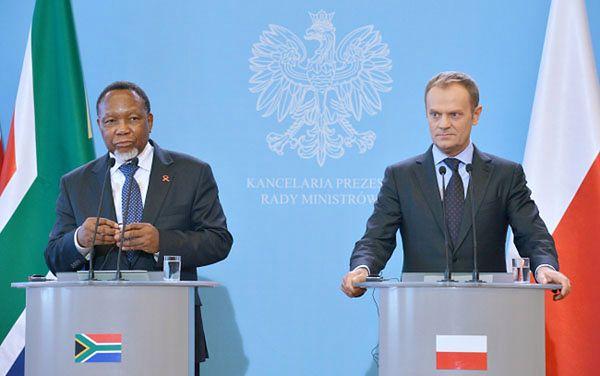 Premier Donald Tusk oraz wiceprezydent Republiki Południowej Afryki Kgalema Motlanthe