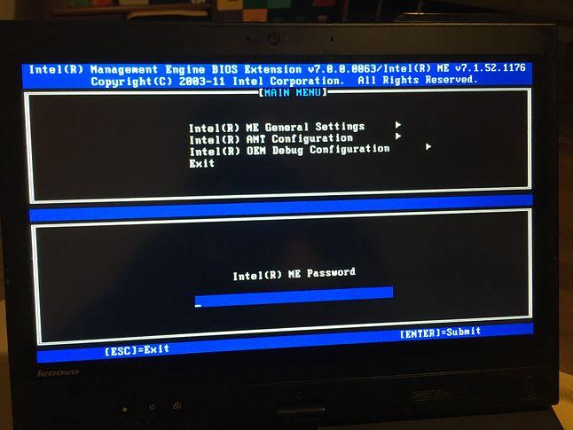 Drugi BIOS: środowisko Intel ME w (wiekowym) laptopie ThinkPad X230 Tablet  (fot. Kamil Dudek)