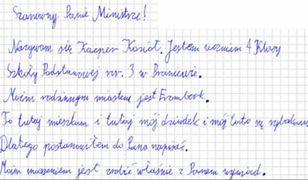 10-latek marzy, aby porozmawiać z ministrem Gróbarczykiem