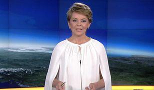 """Justyna Pochanke poprowadziła """"Fakty"""" w fantazyjnej koszuli. Internauci nie mają litości"""