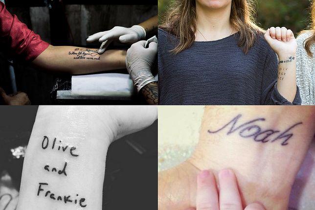 Ciekawe wzory tatuaży z imionami dzieci