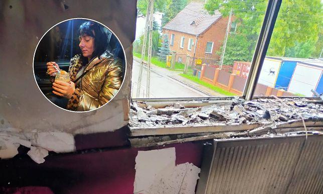 Anna Cabaj została okradziona po pożarze domu