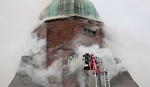 Pożar w gorzowskiej katedrze strażacy gasili przez wiele godzin