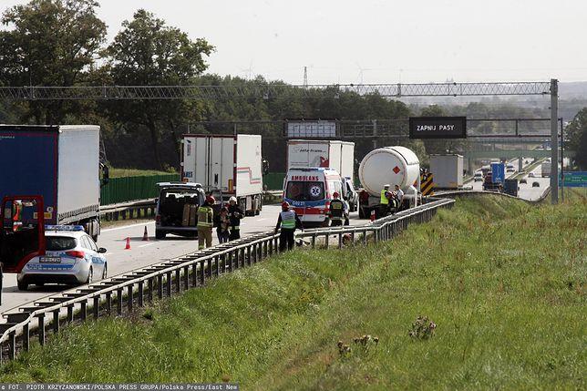 Wrocław. Wypadek na autostradzie A4 między węzłem Pietrzykowice i Kąty Wrocławskie w stronę Zgorzelca (zdjęcie ilustracyjne)