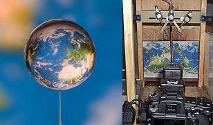 Zdjęcie świata w kropli wody