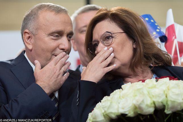 Wybory parlamentarne. Grzegorz Schetyna i Małgorzata Kidawa-Błońska.