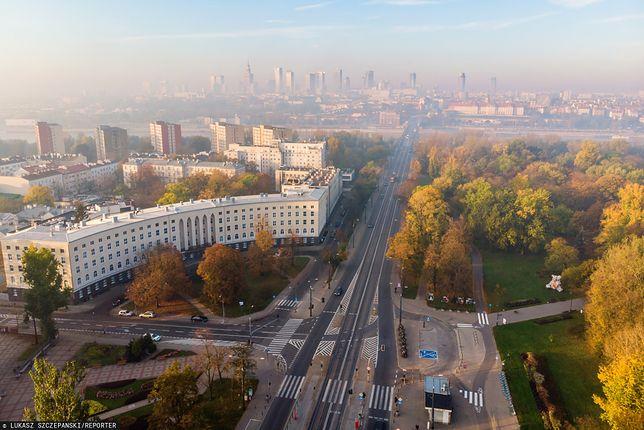 Warszawa. Jakość powietrza i smog w poniedziałek 3 lutego 2020 r.