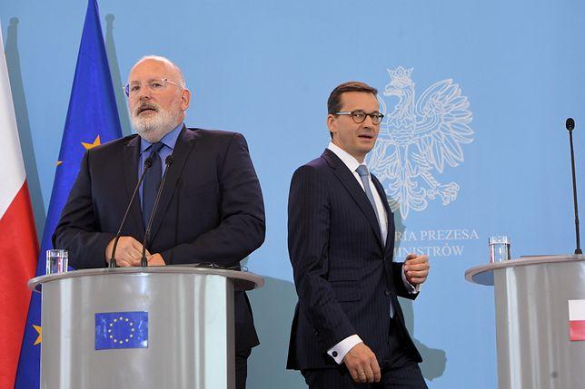 Niemcy komentują spotkanie Morawieckiego z Timmermansem. Gorzki wniosek