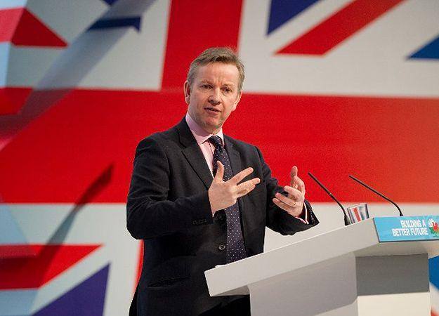 Brytyjski minister sprawiedliwości Michael Gove.