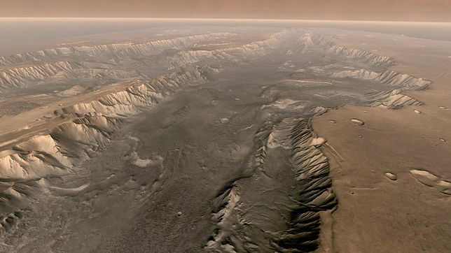 Mars. Valles Marineris - kanion na Marsie