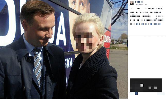 Joanna robiła sobie mnóstwo selfie z prezydentem Andrzejem Dudą
