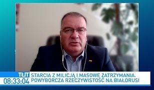 Wybory na Białorusi. Andrzej Dera: sytuacja przypomina polski Sierpień '80