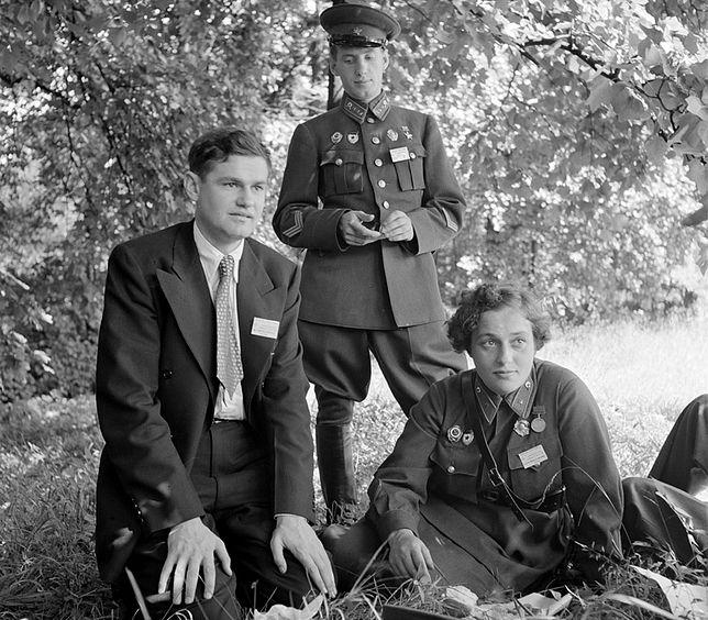 Ludmiła Pawliczenko podczas pobytu w Wasznyngtonie