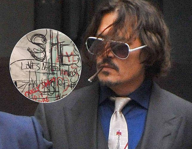 Johnny Depp wychodzi z sądu paląc skręta