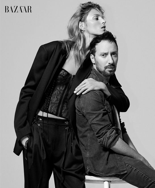"Anja Rubik i Anthony Vaccarello dla ""Harper's Bazaar US"""