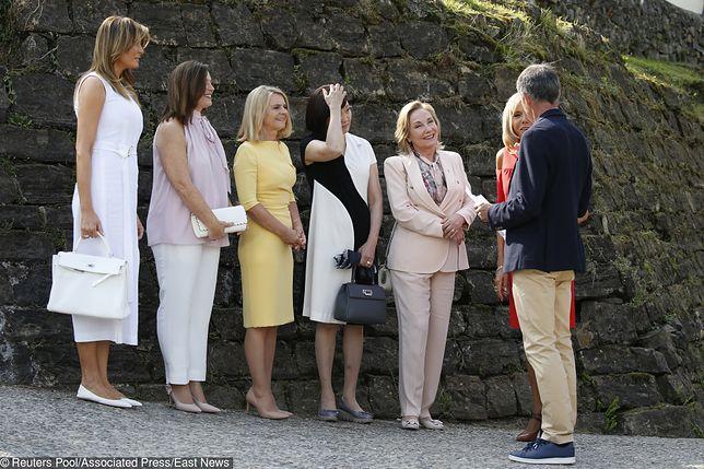 Melania Trump i inne pierwsze damy - szczyt G7