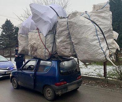 Czechowice-Dziedzice. Seicento jak tir, przewoził ładunek dwukrotnie większy od swojego samochodu