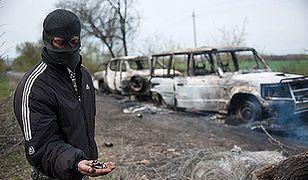 Miejsce krwawej strzelaniny na Ukrainie
