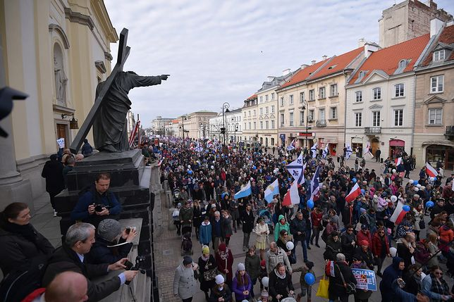 Narodowy Marsz Życia w Warszawie.