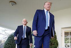 USA. Pierwsze spotkanie Mike Pence-Donald Trump po ataku na Kapitol