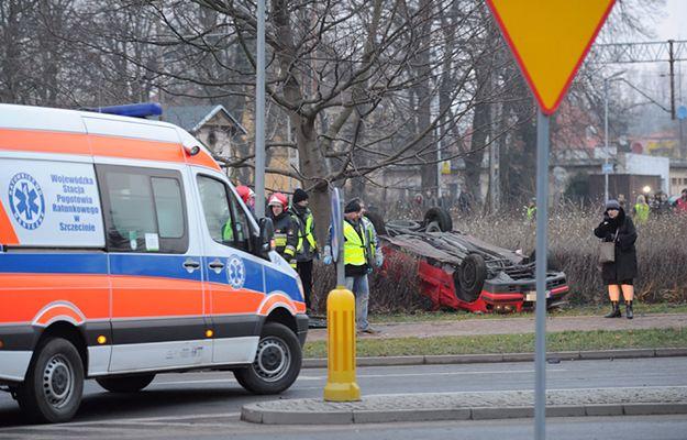 Miejsce wypadku w Kamieniu Pomorskim - zdjęcie archiwalne