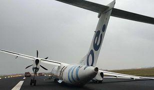 Wypadek na lotnisku w Amsterdamie