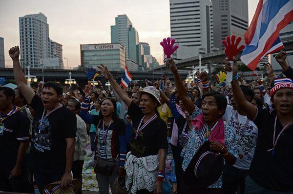 Antyrządowy protest w Bangkoku