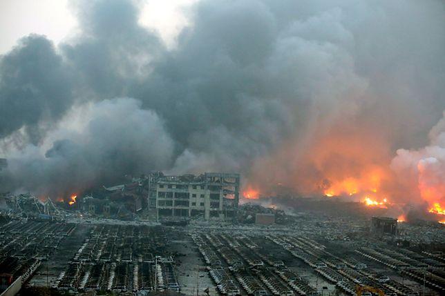 Wielki wybuch w strefie przemysłowej Tiencin