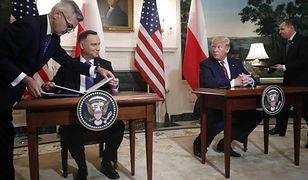 Donald Trump i Andrzej Duda podpisali w Białym Domu polityczną deklarację ws. Fortu Trump. Na ostateczną umowę trzeba będzie jeszcze długo poczekać