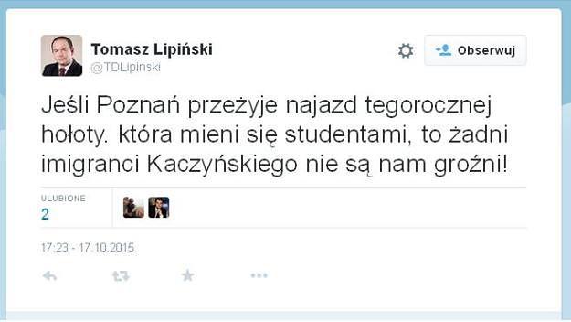 """Radny PO z Poznania o bawiących się na Starym Rynku: """"hołota, która mieni się studentami"""""""