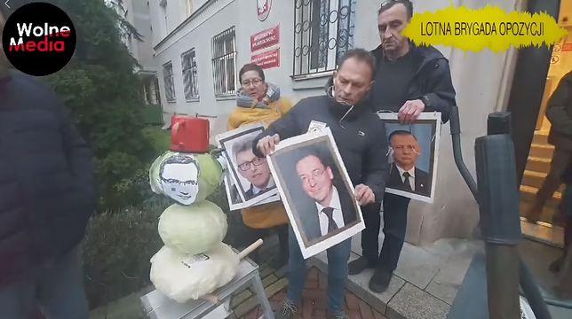 Lotna Brygada Opozycji przed Ministerstwem Sprawiedliwości