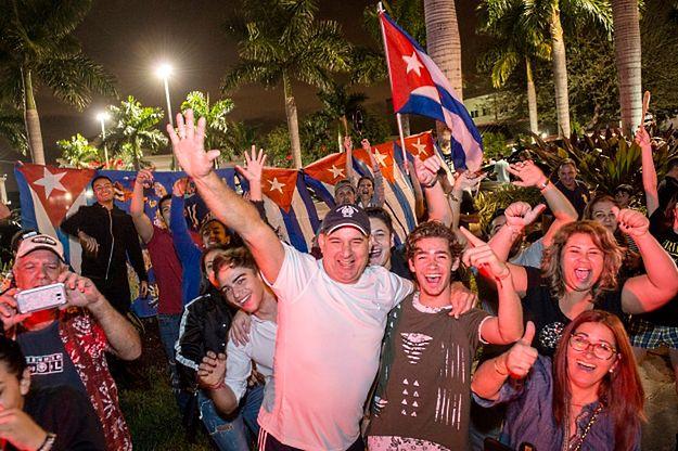 Radość na ulicach Miami po śmierci Fidela Castro