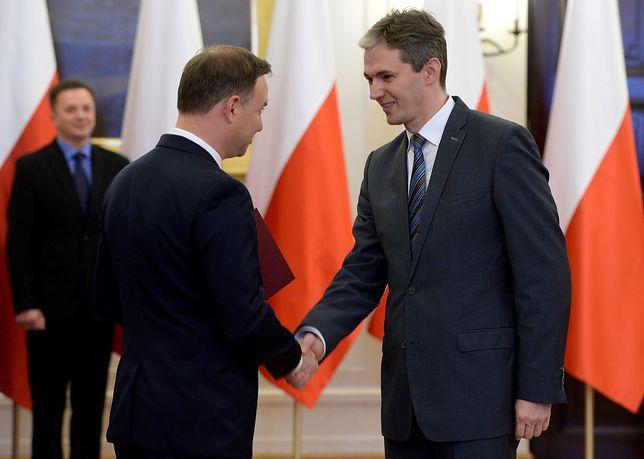Prezydent Andrzej Duda i Adam Jarubas podczas powołania Narodowej Rady Rozwoju w 2015 r.
