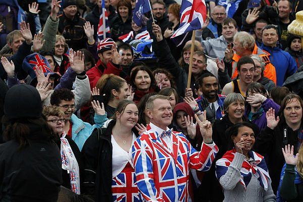Grupa zwolenników pozostania Falklandów zamorskim terytorium Wielkiej Brytanii