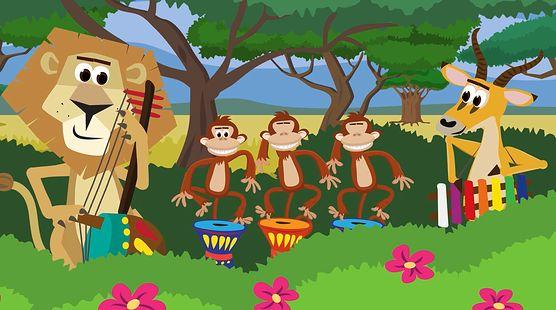 Pani zebra - kolorowa animacja dla dzieci