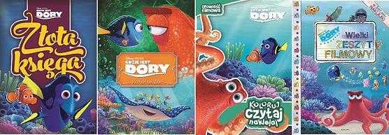 """Z okazji premiery filmu dla dzieci """"Gdzie jest Dory?"""" Wydawnictwo Egmont zaprasza do zapoznania się z nowym cyklem książek! Przeczytajcie ich recenzję"""