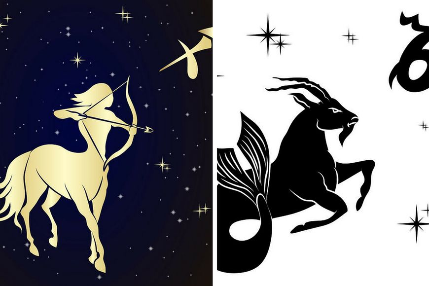 Wizerunki znaków zodiaku - Strzelca i Koziorożca