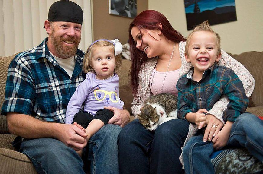 Scarlette ze swoją rodziną