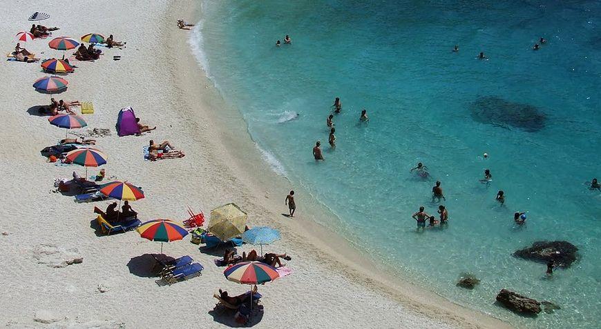 Plaża w upalny dzień