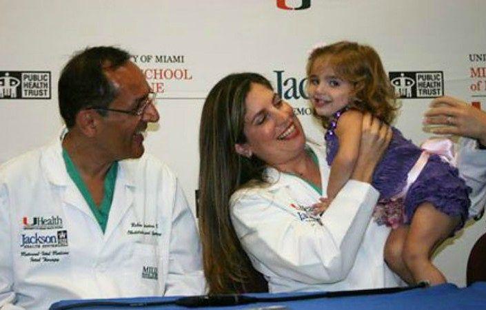 Dr Ruben Quintero z mamą i Leyną
