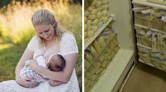 Ta mama produkuje 10 razy więcej mleka niż inne kobiety! Nie uwierzysz, co z nim robi