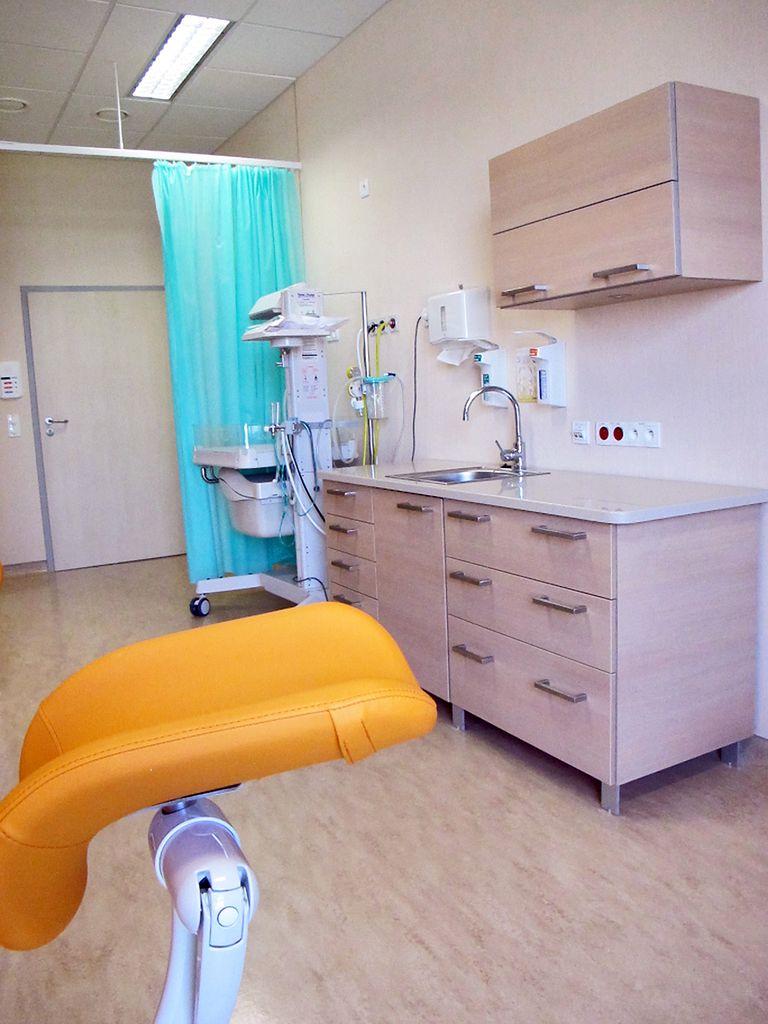 Widok na salę porodową