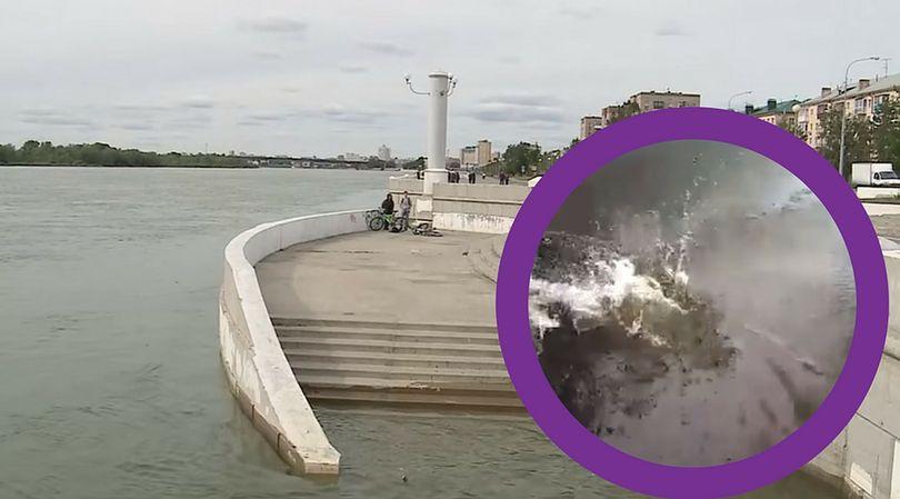 Rzeka Irtysz w Omsku