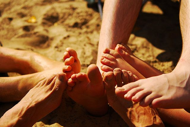 Stopy w piasku
