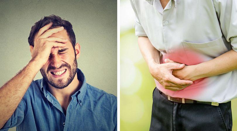 Bóle brzucha i głowy