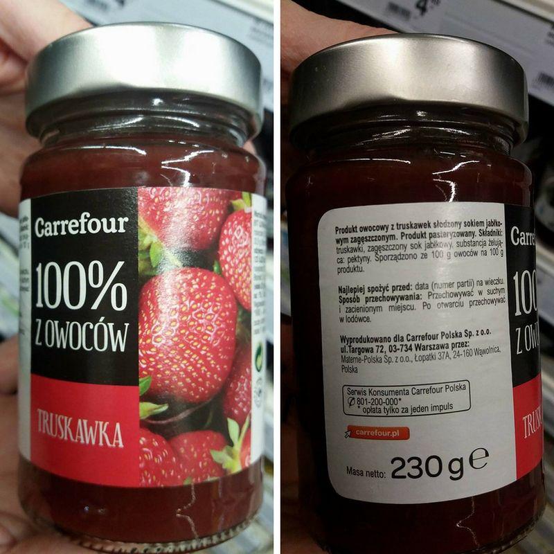 Dżem truskawkowy marki Carrefour