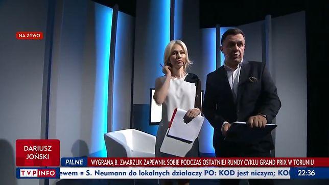 "Kadr z programu ""Studio Polska""."