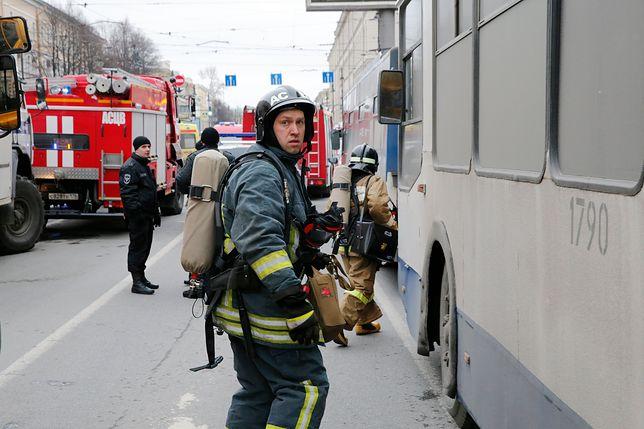 Ewakuacja metra w Petersburgu