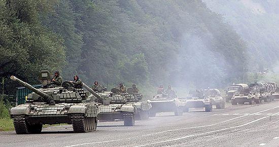 Gruzja: 50 czołgów wjechało do Gori. Rosja dementuje